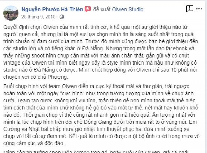 Nice words from Thien