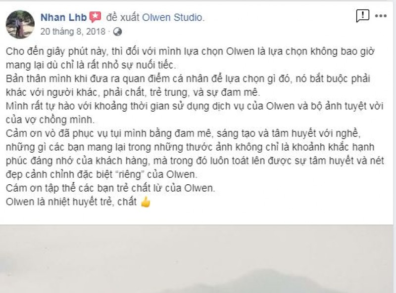 Nice words from Nhan