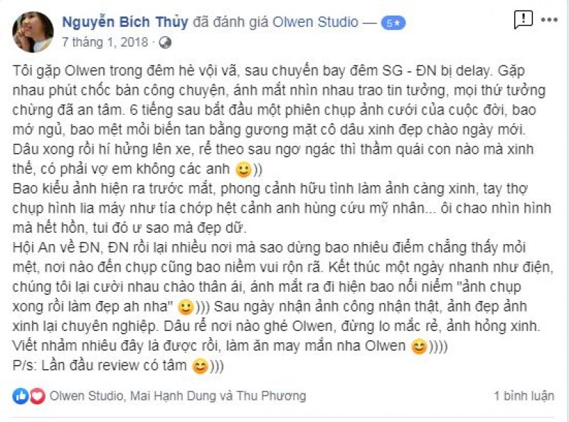 Nice words from Bich Thuy