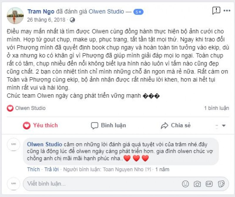 Nice words from Tram Ngo