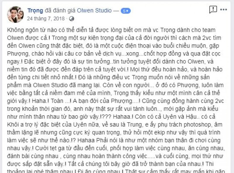 Nice words from Trong